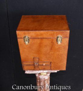 Englisches Leder behindern Champagner Wein Kühler Ice Eimer trunk Box