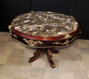 Französisch Louis XVI Center Tischzentrum Marmor gekrönt