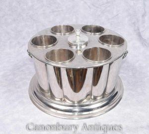 Viktorianische Silber Platte Wein Champagner Kühler Eis Eimer Box