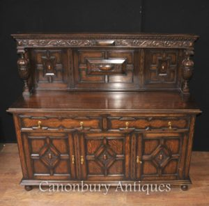Antike Eiche Jacobean Sideboard Server Buffet Küchenmöbel