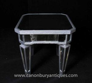 Art Deco Gespiegelte Beistelltisch Cocktail Tische Borghese
