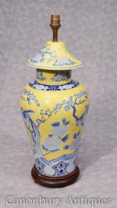 Einzel chinesische Famille Jaune Porzellan Lampensockelart Light Shade