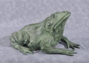 Französische Bronze Froschbrunnen Kröte Garten Skulptur Statue