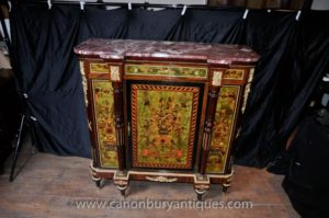 Französisches Imperium Sideboard Cabinet Intarsien Inlay Chest