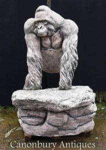 Giant Lifesize Stone Gorilla Garten Statue Affe Affe Art