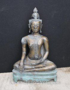 Große Bronze Nepalesische Buddha-Statue Buddhismus Buddhistische Kunst Nepal