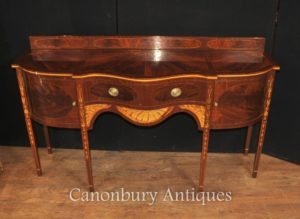 Hepplewhite Mahagoni Sideboard Server Buffet Intarsien Inlay Englische Möbel