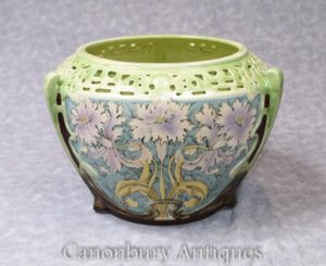 Single Art Nouveau Porzellan Floral Pflanzer Keramik China Pot