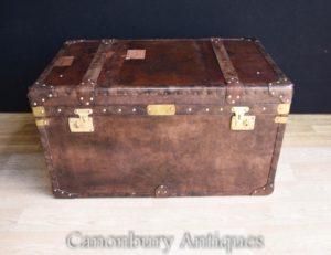 Leder Steamer Trunk Gepäck Case Beistelltisch Kaffee