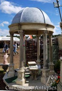 2.4m Steingarten Tempel Gazebo mit konischer Kuppel