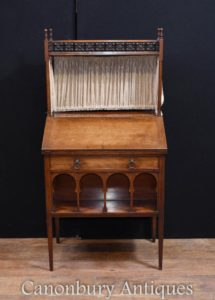 Antike Kunst und Handwerk Walnut Office Desk 1890