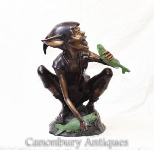 Bronze Celtic Pixie Angeln Fairey Elph Statue