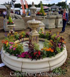 Englischer Steingarten Doulton Urnen-Wassermerkmal-Brunnen