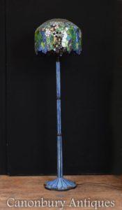 Jugendstil Tiffany Stehleuchte Glas Licht Schatten