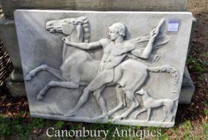 Klassischer Stein Plaque Jugend und Pferd griechischen Pantheon
