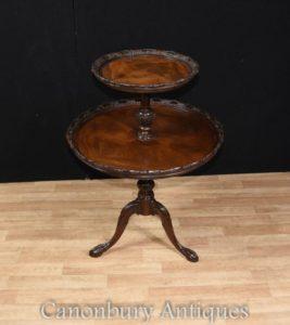 Mahagoni stummer Kellner Tiered Tisch George II
