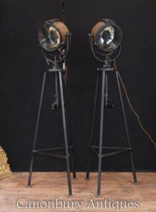 Paar Weltkrieg Schiff Lichter Suche Lampe Stehlampe Architectural Salvage