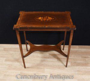 Regency Sheraton Side Einlegearbeit Tisch