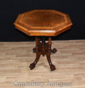 Regency achteckige Beistelltisch Walnut Tables