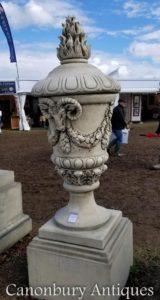 Stein Stratton Urne Milton Plinth Garden Statue
