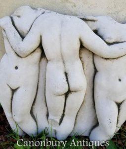 Steinskulptur Klassische Drei Grazien Statue