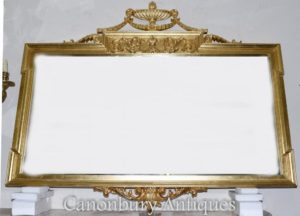 Großes Regency Adams-Umhang-Spiegel-Vergoldungs-Glas