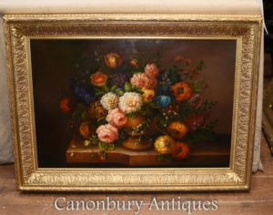 Blumenspray-Ölgemälde-englische viktorianische Blume