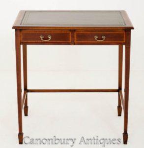 Sheraton Revival Mahagoni 2 Schubladen Schreibtisch Schreibtisch