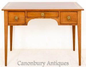 Antiker Sheraton Tisch - seitlicher Schreibtisch 1890