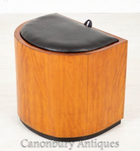 Art Deco Vintage Hocker Antiker Sitz Circa 1930