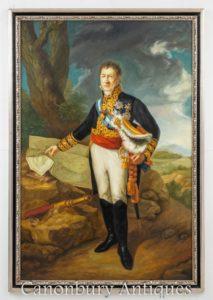 Englisches Ölgemälde Herzog von Wellington - Militärkunstporträ
