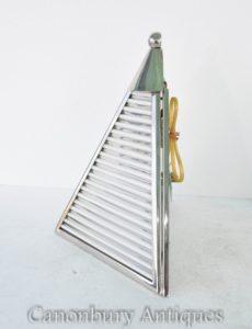 Paar Art Deco Wandlampen Wandleuchten Nickel