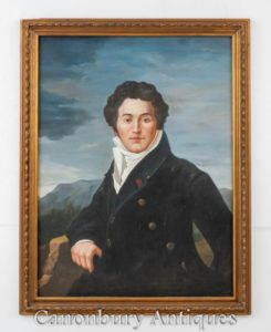 Schottisches Ölgemälde Robert Burns Porträt Nationaler Barden Dichter Auld Lang Syne
