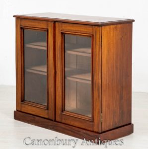 Victorian Glazed Cabinet - Bücherregal Sideboard Display 1870