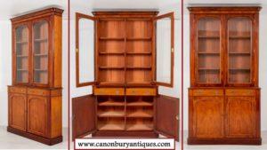 Victorian Libary Bookcase - Antike Vitrine um 1860
