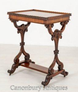 Victorian Occasional Beistelltisch Palisander Circa 1850