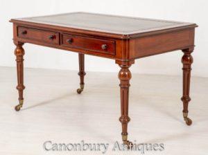 Viktorianischer Schreibtisch Mahagoni - Antiker Schreibtisch 1850
