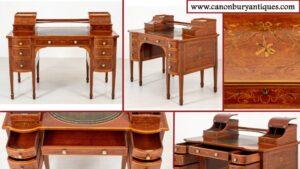 Antiker Carlton Haus Schreibtisch - Mahagoni Regency Bureau 1880