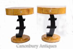 Art Deco Beistelltische - Paar Euro Occasional Furniture