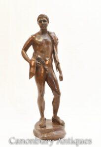 Bronze Nude David Statue - Klassische Figur
