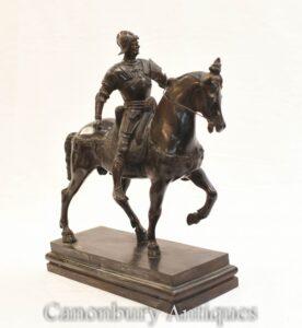 Bronze römische Gladiator Pferdestatue-Klassik Rom Antike