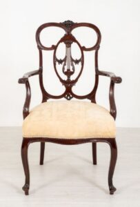 Chippendale Carver Arm Chair - Antikes Mahagoni 1890