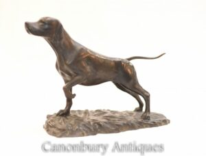 Englische Bronze Pointer Dog Statue - Hundeskulptur