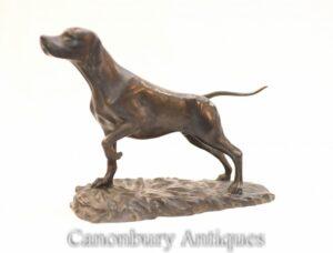 Englische Bronze Pointer Dog Statue - Hundeskulptur