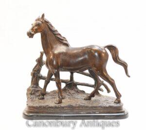 Französische Bronzestatue - Reitpony Mene