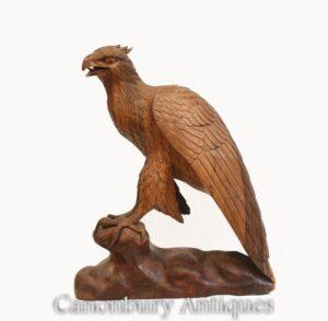 Handgeschnitzter Turmfalke - Greifvogel Falcon Hawk