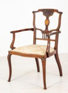 Jugendstil-Sessel - Antiker Ellbogensitz 1910