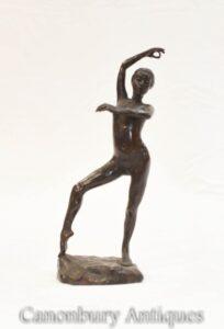 Nackte Nymphen-Tänzerin Bronze Figur etruskische Kunst