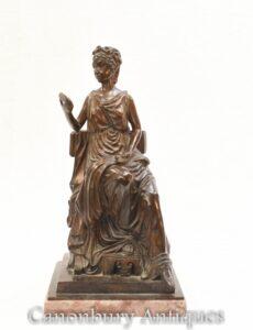 Römische Jungfrau Bronzestatue - Toga gekleidete klassische Figur