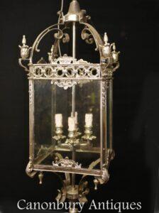Regency Lantern - Silver Plate Hanging Light Kronleuchter